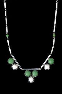 Art Deco Collier aus Chrome